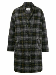 Isabel Marant Étoile oversized plaid coat - Black