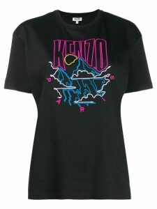 Kenzo embroidered logo T-shirt - Black