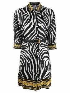 Versace zebra print shirt dress - Black