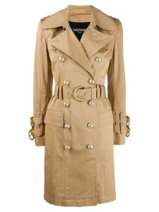 Balmain belted trench coat - Neutrals