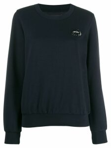 Markus Lupfer logo embroidered sweatshirt - Blue