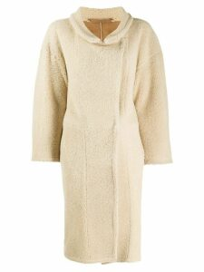 Salvatore Santoro long shearling coat - Neutrals