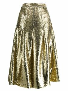 Simone Rocha sequin pleated midi skirt - GOLD
