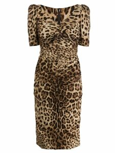 Dolce & Gabbana leopard-print dress - Brown