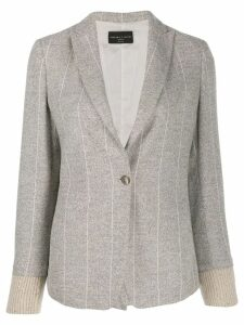 Fabiana Filippi striped blazer - Grey