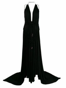 Dsquared2 Light Crepe Long Dress - Black