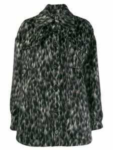 Rochas patterned coat - Black