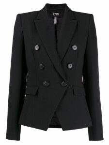 SLY010 fitted double-breasted blazer - Black