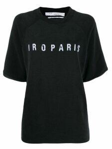Iro decayed logo T-shirt - Black
