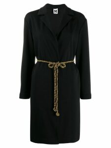 M Missoni belt detail coat - Black
