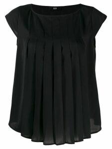 Steffen Schraut pleated blouse - Black