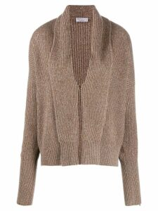 Brunello Cucinelli sparkle cardigan - Brown