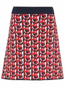 Miu Miu jacquard monogram skirt - Blue