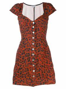 Miaou leopard print Gigi dress - Red