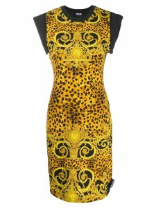 Versace Jeans Couture brocade print T-shirt dress - Black