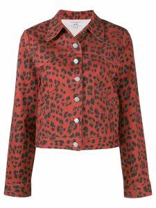 Miaou leopard Lex denim jacket - Red