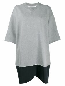 Mm6 Maison Margiela oversized sweatshirt dress - Grey
