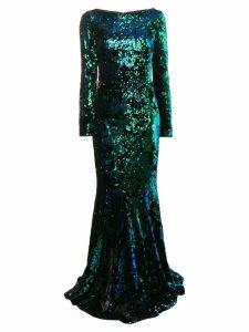Talbot Runhof Lorena dress - Green