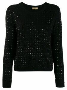 Liu Jo studded fine knit sweater - Black
