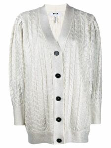MSGM button up cardigan - White