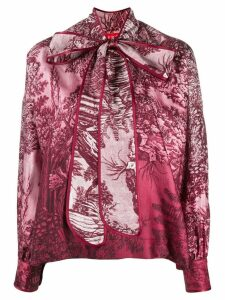 F.R.S For Restless Sleepers pussy bow printed blouse - Pink