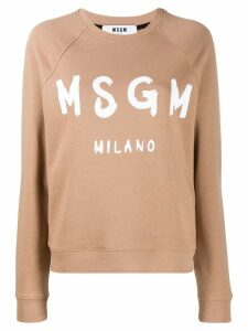 MSGM long sleeved sweater - Neutrals