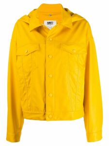 Mm6 Maison Margiela weather-proof trucker jacket - Yellow