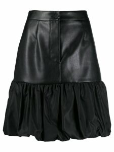 Brognano ruffle-trim faux-leather skirt - 99