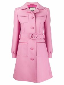 Gucci Interlocking G belted coat - Pink