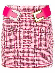 Elisabetta Franchi houndstooth knitted mini skirt - Pink