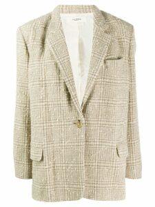 Isabel Marant Étoile textured check blazer - Neutrals