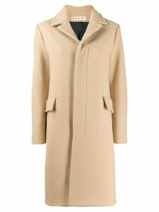 Marni single breasted coat - NEUTRALS