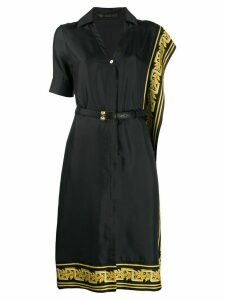 Versace Greek Key trimmed dress - Black