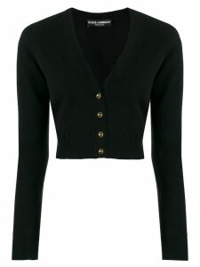Dolce & Gabbana cropped V-neck cardigan - Black