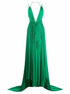 Dsquared2 Light Crepe Long Dress - Green