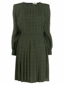 Fendi printed crepe mini-dress - Black