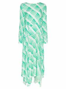 Rixo Elsa check print midi dress - Green