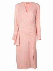 Altuzarra metallic striped dress - Pink