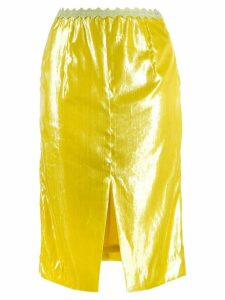 SJYP shiny pencil skirt - Yellow