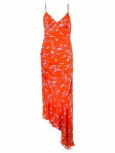 Nicholas floral draped dress - Orange