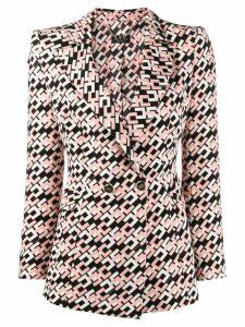 Elisabetta Franchi monogram print blazer - Pink