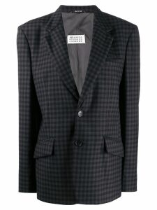 Maison Margiela checked oversized blazer - Grey