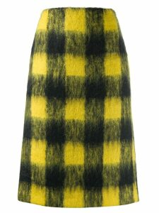 Maison Margiela check print pencil skirt - Yellow