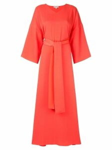 Layeur wide sleeve maxi dress - Red