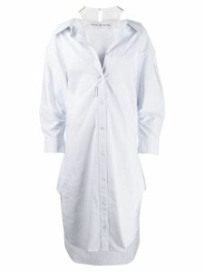 Alexander Wang cotton striped shirt dress - Blue