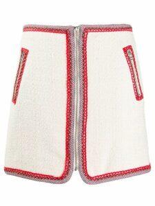 Veronica Beard contrast-stitch skirt - Neutrals