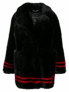 Ermanno Scervino faux fur peacoat - Black
