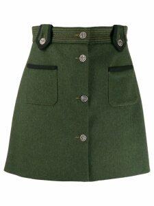 Miu Miu military style skirt - Green