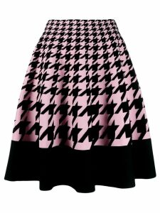 Alexander McQueen houndstooth knitted skirt - Pink