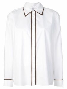 Rosie Assoulin contrast piped trim shirt - White
